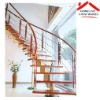 interior steel wood arc shaped / curved profile stairs models