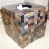 Mother of pearl shell mosaic tissue box