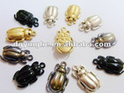 Beetle-shaped spray shiny color alloy slider for garment