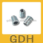 Zinc alloy ,Flat head,furniture insert nut
