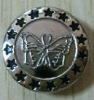 17mm Plating brassJeans Button with Butterfly Logo in Lovely Style