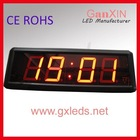 indoor mini 7 segment time temperature led clock