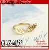2012 custom cheap gold plated wing finger ring
