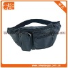 Black funny pack leisure leather waist bag with high quality