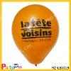 "high quality 1.9g 10"" orange latex printing balloon for advertising"