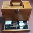 25PC Universal Wood Box Gun Cleaning Kit