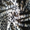 XCl New fashion discharging print soft100% ployester printed spotted artificial fur/ fade fur/faux fur fabric