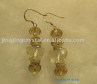Silver shape crystal glass earring