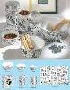 pet ceramic dish with decal