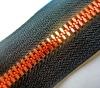 5# metal zipper with zinc alloy golden teeth
