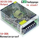 2012 high quality Input AC110,220V output DC12V,24V led driver,LED switching power supply