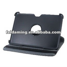 Litchi Pattern 360 Degree Rotation PU Leather Case with Stand for Samsung P7300 Black