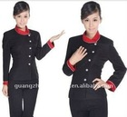 new style hotel waiter uniform garment 2012