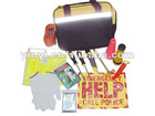 YYS12005 14-Piece car emergency tool kit with heavy-duty carry bag with reflective stripe