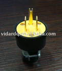 2 pole 3 wire vinyl/rubber plug