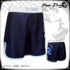 Fighter's short 100% polyester printed black mma shorts