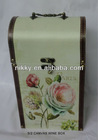floral wooden wine boxes for sale, cheap wooden boxes, wooden tea box