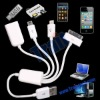 White USB 2.0 HUB for Mobile Phone Charger