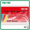 3x5'' ruled colored index card 100 sheets