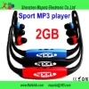 Green/Blue/Red Colors Wireless Wrap Around Headphones Digital Sport MP3 Player with TF card slot