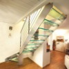 Glass Stainless Steel Stairs 9004-12