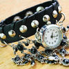 Hot Selling Fashion Vintage Leather Bracelet Watch/Women Watch