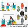 high output small recycle tire machine