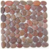 red polished pebble tile mesh