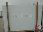 Pure white crystallized marmoglass slab