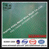 punched metal mesh with green PVC coated