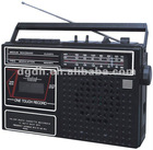 Portable multi bands radio cassette recorder