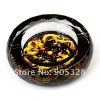Free shipping Chinoiserie-Double Dragon Crystal Ashtray