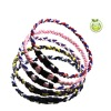 fashion braided 3 ropes titanium necklace for baseball