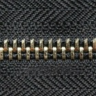 metal copper zippers