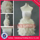 CTD201 real sample OEM sequin beaded short feather cocktail dress