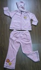 children's casual sports wear for a set/pair with embroidery and print and garment wash