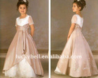 Free shipping Short Sleeve Beautiful Colorful Flower girl dress