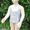 sequin suit, sequin vest top, sequin T-shirt, sequin short/shiny sequin shorts