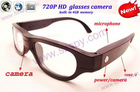 HD 1280*720 Pinhole Camera Glasses/Video Recorder Glasses / Camera Glasses