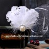 2012 red or ivory feather big pearl and bead wedding accessory