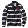 Wholesale cheap black and white striped shirts for men