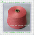 Pink color 100%polyester spun yarn recycled 40s