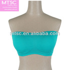 blue seamless tight sexy boob tube top bra
