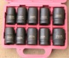 "10pcs 1"" impact socket set"