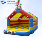 Inflatable mini clown bounce castle