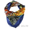 silk printed square scarf