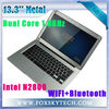 Super thin laptop Intel Atom N2800 Dual Core 13.3'' ultrabook