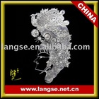 Chinoiserie lether arts and crafts carving of shadow play