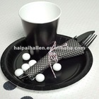 Black Plastic disposable cutlery sets for party favors