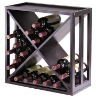24 bottle wooden wine rack